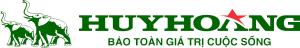 logo khóa con voi Huy Hoàng (màu xanh)