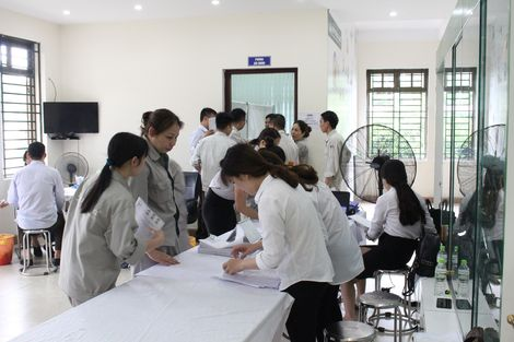 CBCNV Khóa Huy Hoàng tham gia khám sức khỏe định kỳ 2018